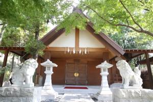 神殿外-狛犬